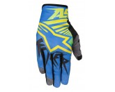 ALPINESTARS RACER BRAAP GLOVE YELLOW BLUE LIME