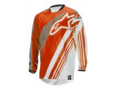 ALPINESTARS RACER SUPERMATIC JERSEY ORANGE WHITE TEAL