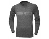Functional Shirt longsleeve Melange high grey-dark grey