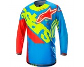 Alpinestars Techstar Venom Limited Edition Union Jersey Aqua Yellow Red