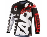 Alpinestars Racer Braap Jersey - Black White Red