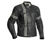Halvarssons Leather jacket Dresden Black/white