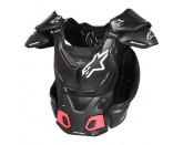 ALPINESTARS A-8 BODY PROTECTOR WHITE RED