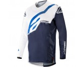 Alpinestars Techstar Factory MX Jersey - White / Dark Navy