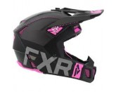 FXR Racing Clutch Evo Helmet Black Charcoal Pink